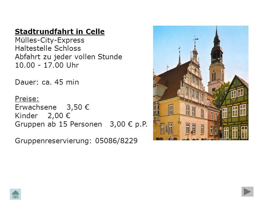 Stadtrundfahrt in Celle