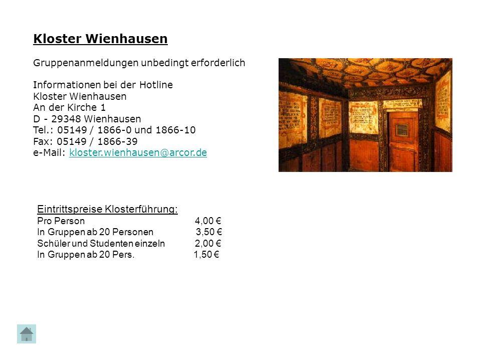 Kloster Wienhausen Eintrittspreise Klosterführung: