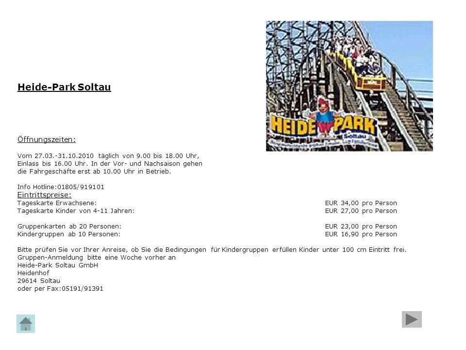 Heide-Park Soltau Öffnungszeiten: Eintrittspreise: