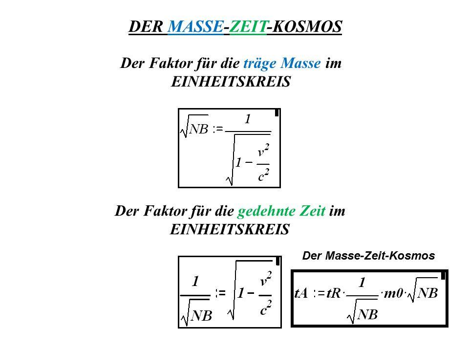 DER MASSE-ZEIT-KOSMOS