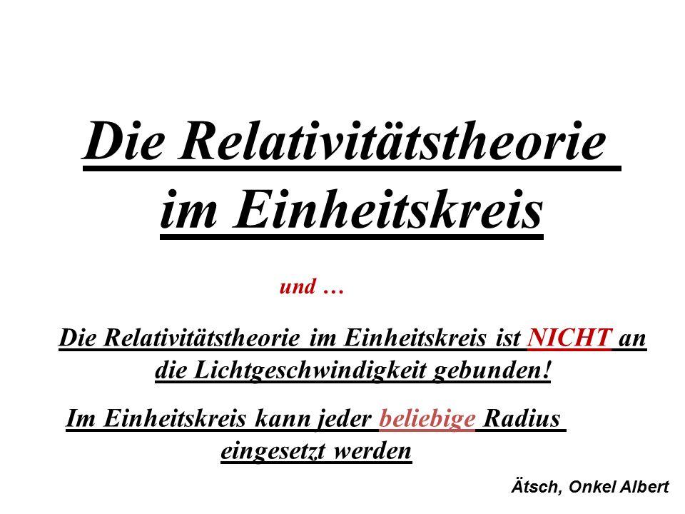 Die Relativitätstheorie im Einheitskreis
