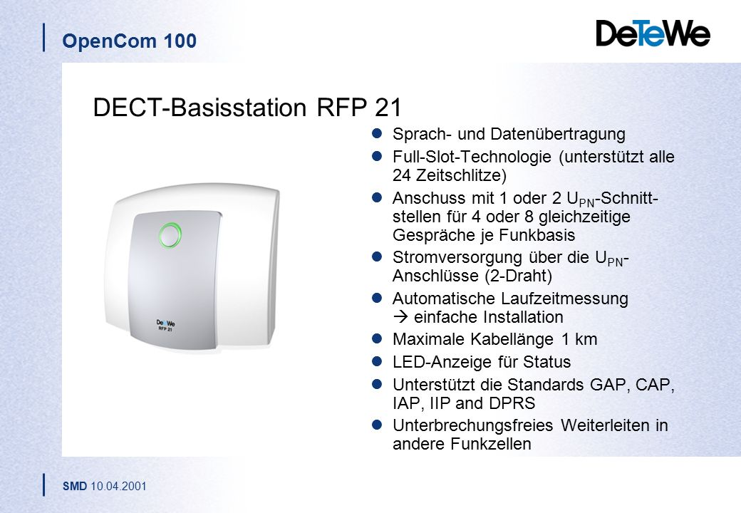 DECT-Basisstation RFP 21