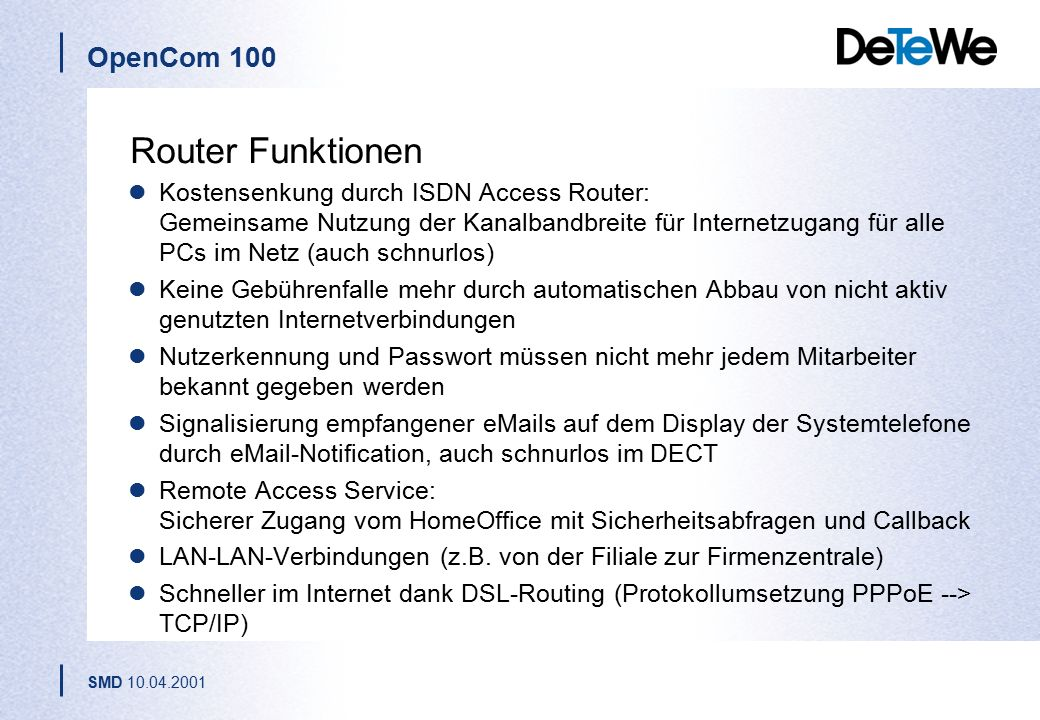 Router Funktionen