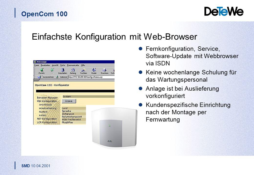 Einfachste Konfiguration mit Web-Browser