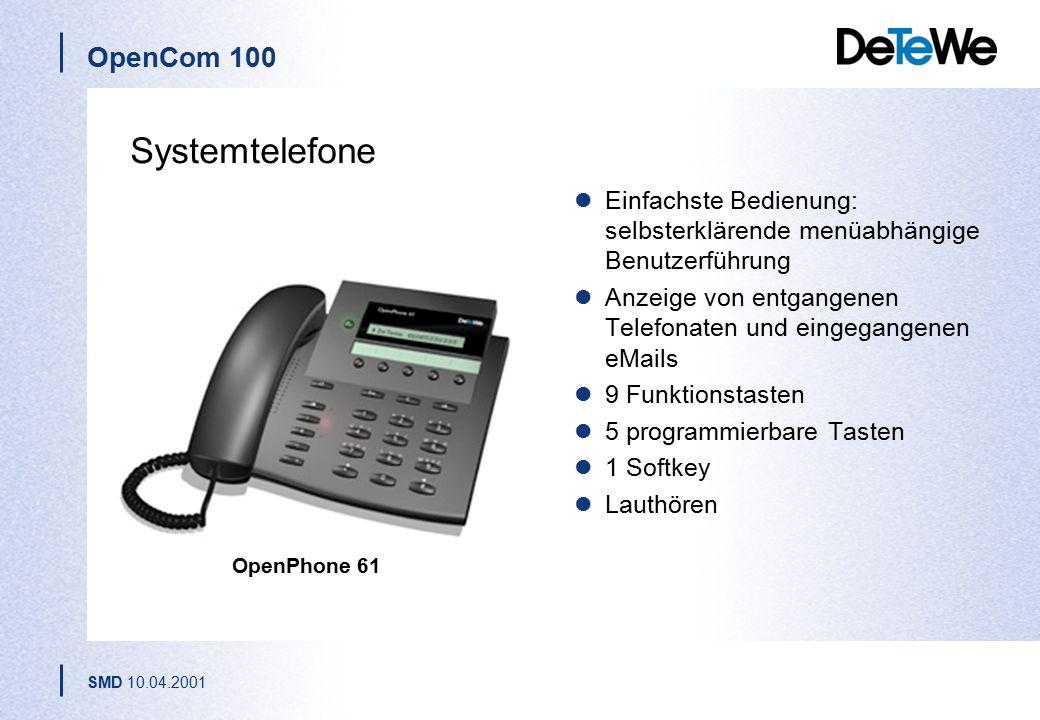 Systemtelefone Einfachste Bedienung: selbsterklärende menüabhängige Benutzerführung. Anzeige von entgangenen Telefonaten und eingegangenen eMails.