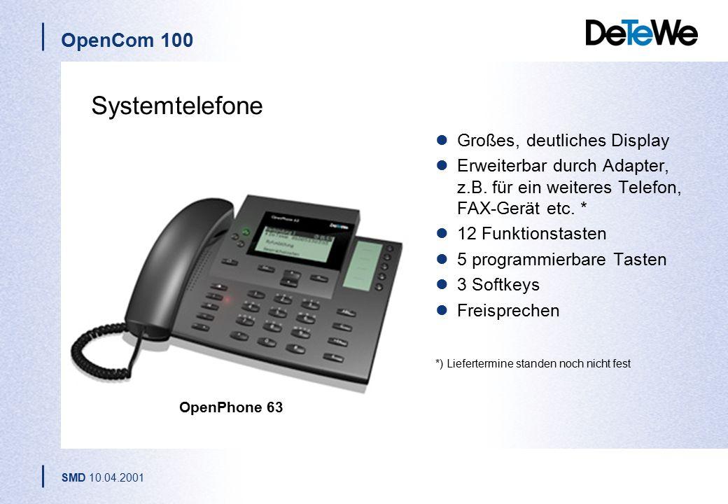 Systemtelefone Großes, deutliches Display