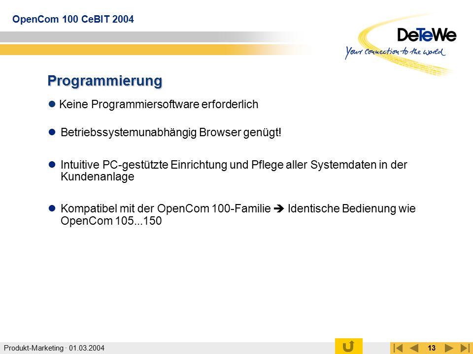 Programmierung Keine Programmiersoftware erforderlich