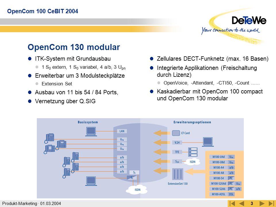 OpenCom 130 modular ITK-System mit Grundausbau