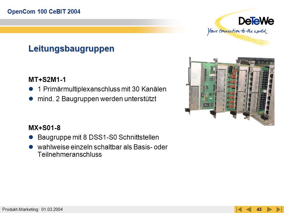 Leitungsbaugruppen MT+S2M1-1 1 Primärmultiplexanschluss mit 30 Kanälen