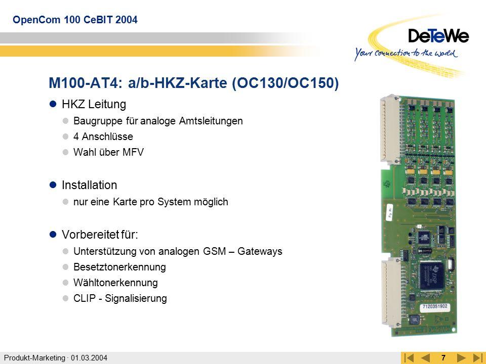 M100-AT4: a/b-HKZ-Karte (OC130/OC150)