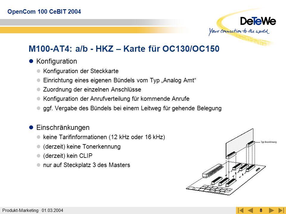 M100-AT4: a/b - HKZ – Karte für OC130/OC150