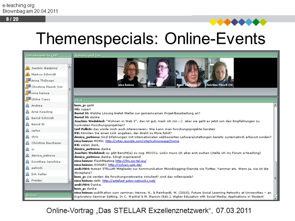 Themenspecials: Online-Events