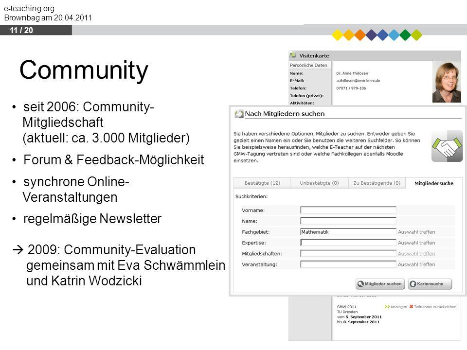 Community seit 2006: Community- Mitgliedschaft