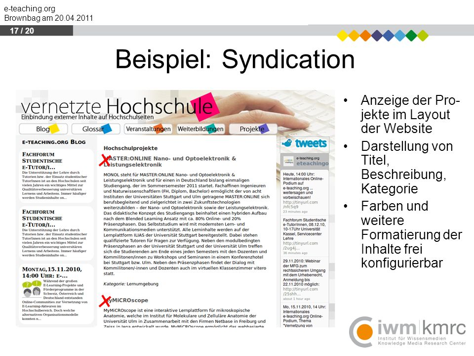 Beispiel: Syndication