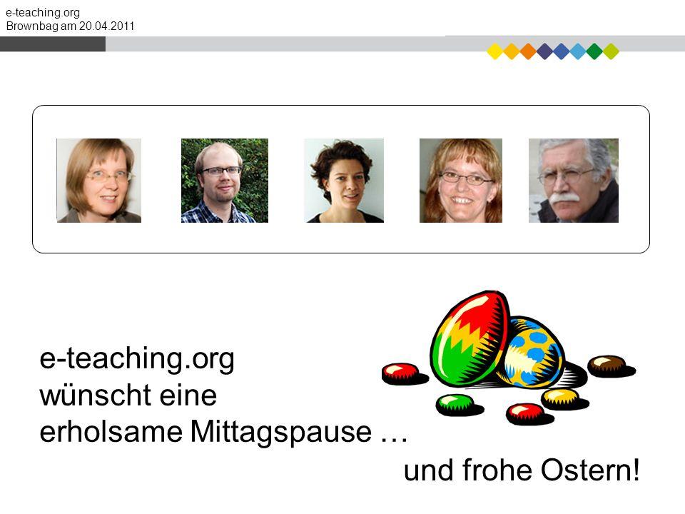 e-teaching.org wünscht eine erholsame Mittagspause …