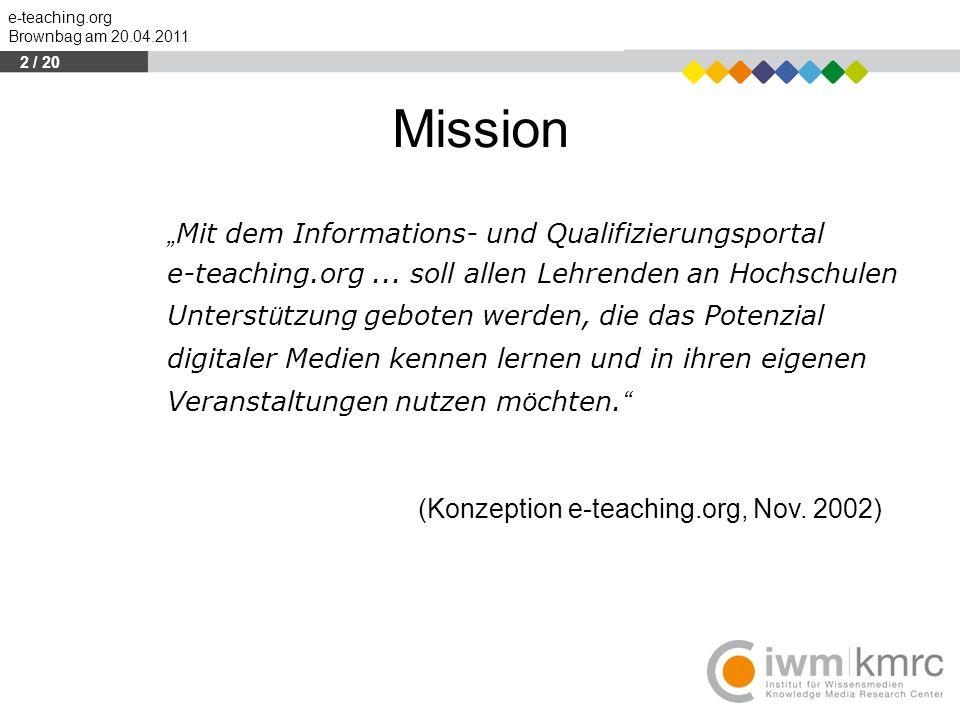 """Mission """"Mit dem Informations- und Qualifizierungsportal"""