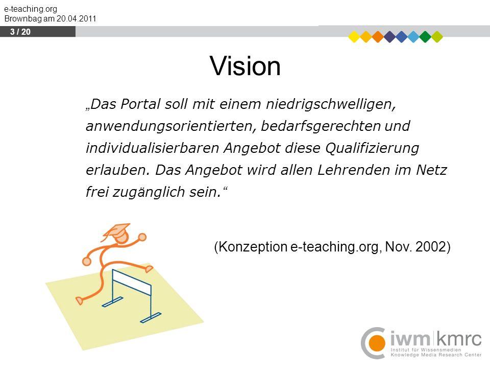 """Vision """"Das Portal soll mit einem niedrigschwelligen,"""