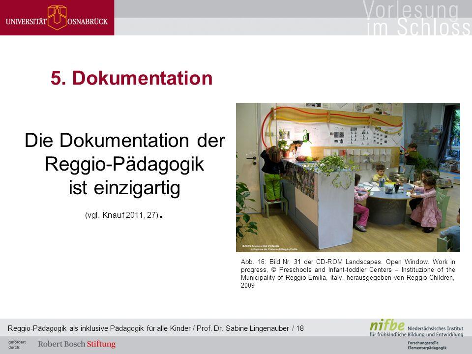 Die Dokumentation der Reggio-Pädagogik