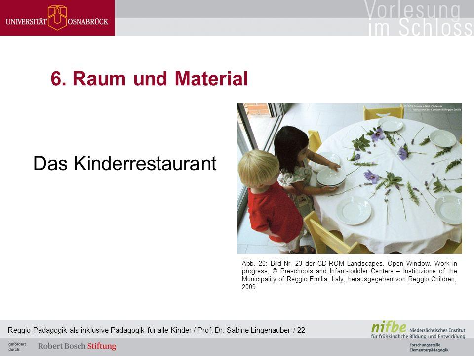 6. Raum und Material Das Kinderrestaurant
