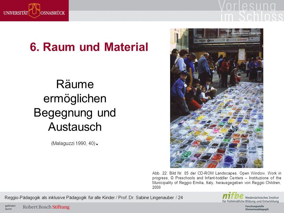 6. Raum und Material Räume ermöglichen Begegnung und Austausch