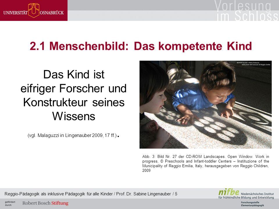 2.1 Menschenbild: Das kompetente Kind