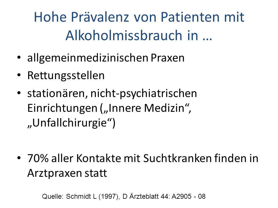 Hohe Prävalenz von Patienten mit Alkoholmissbrauch in …