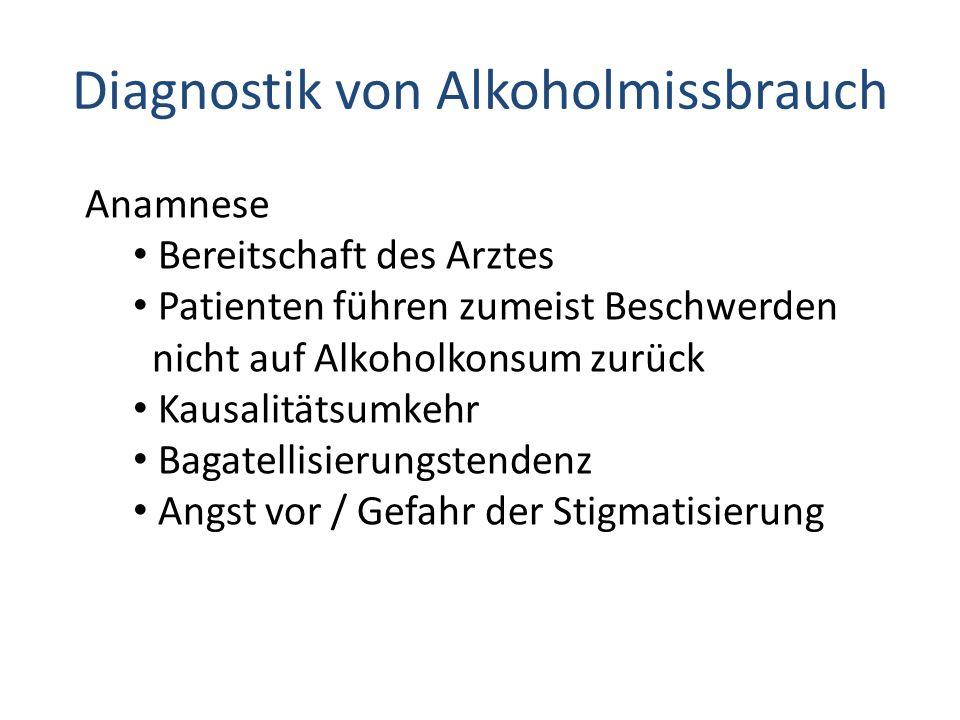Diagnostik von Alkoholmissbrauch