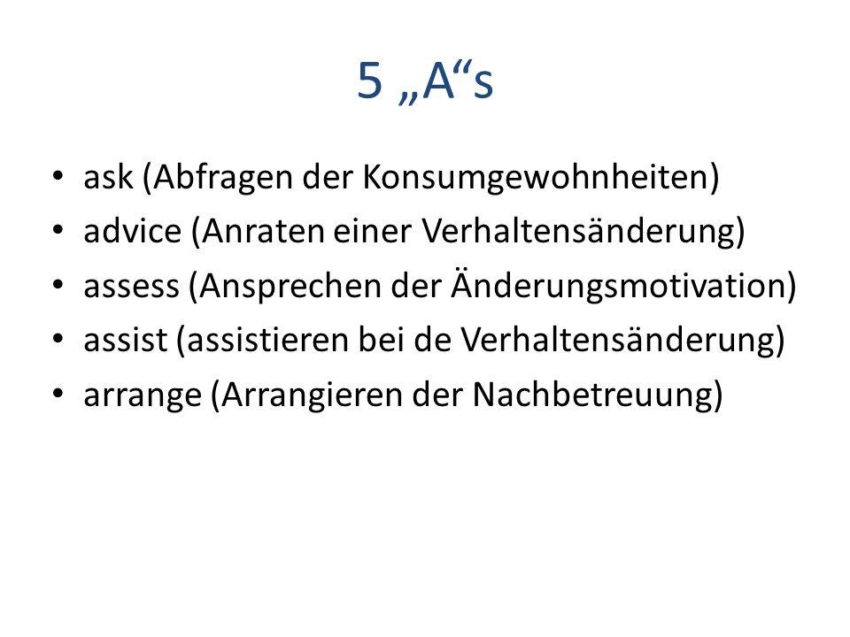 """5 """"A s ask (Abfragen der Konsumgewohnheiten)"""