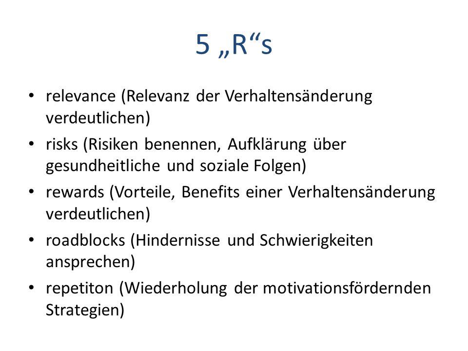 """5 """"R s relevance (Relevanz der Verhaltensänderung verdeutlichen)"""
