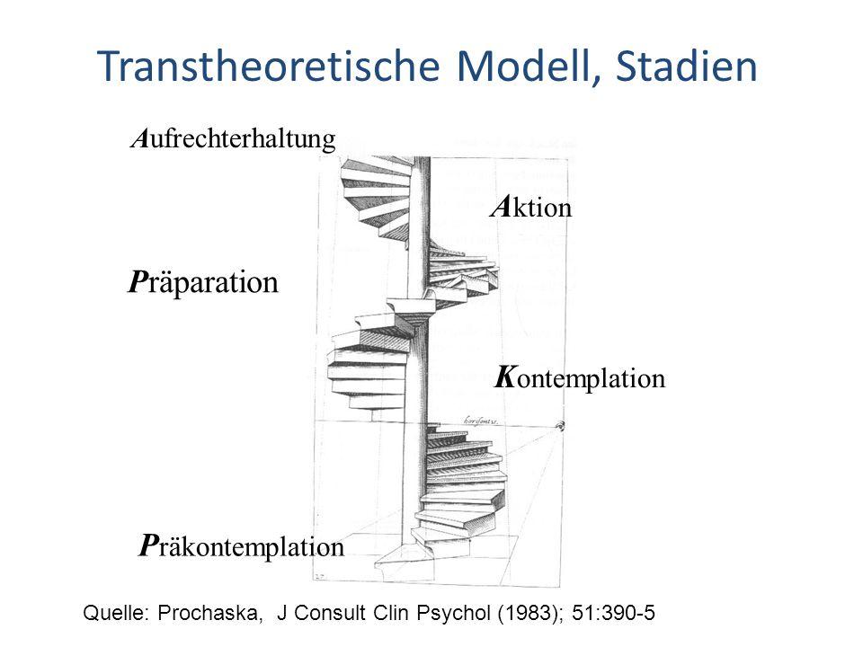 Transtheoretische Modell, Stadien