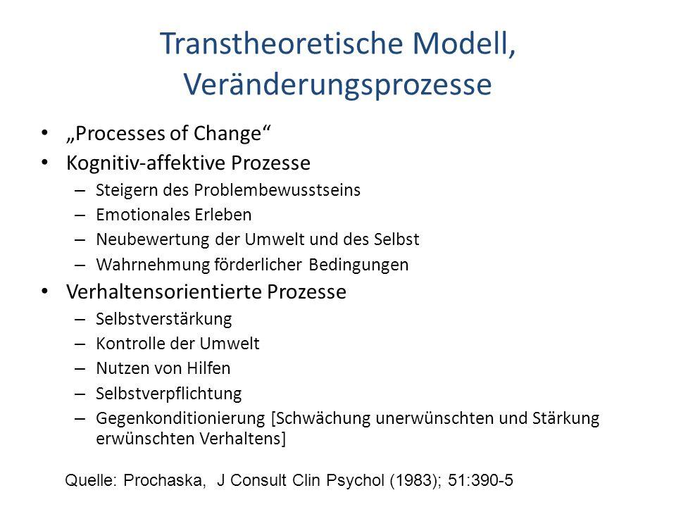 Transtheoretische Modell, Veränderungsprozesse