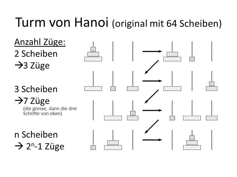 Turm von Hanoi (original mit 64 Scheiben)