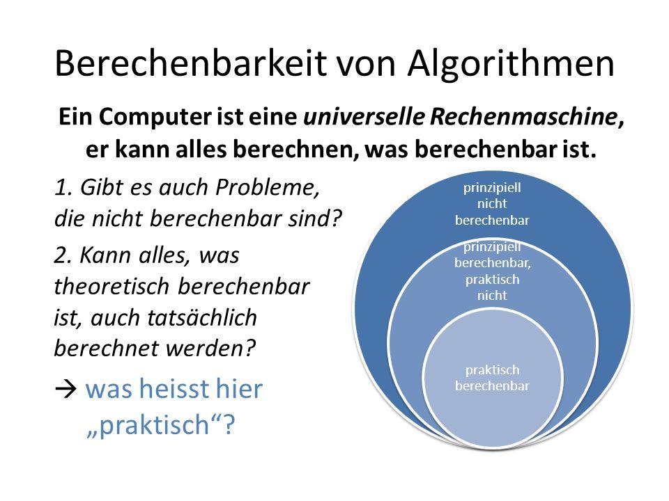 Berechenbarkeit von Algorithmen