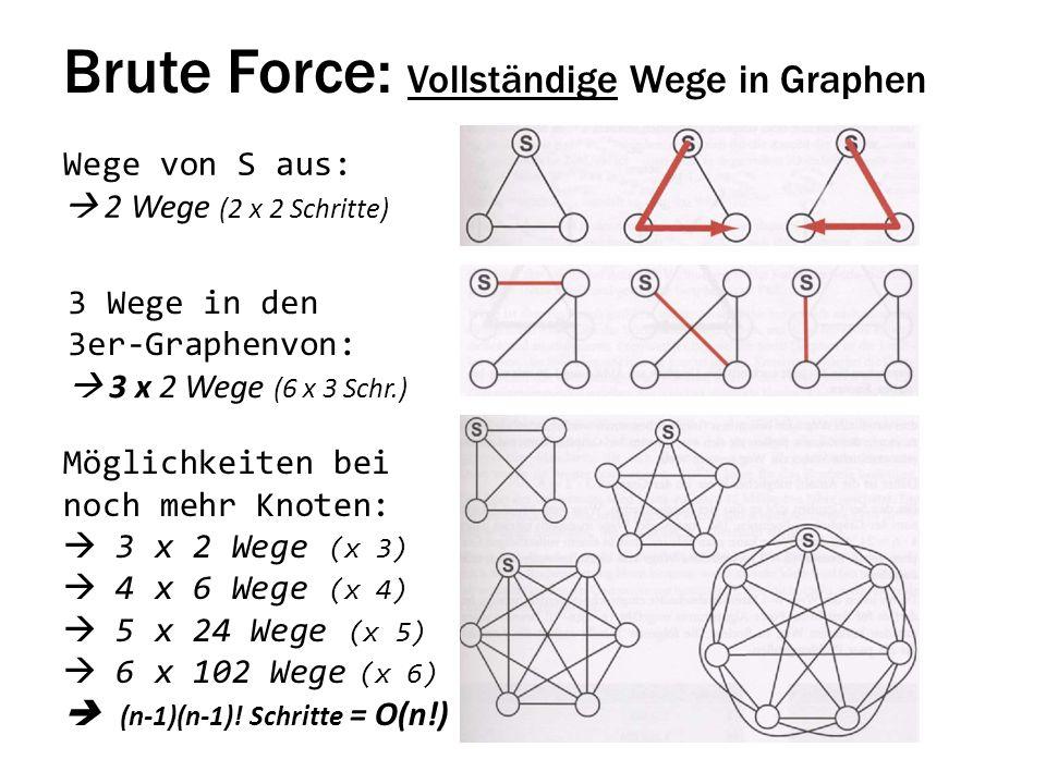 Brute Force: Vollständige Wege in Graphen