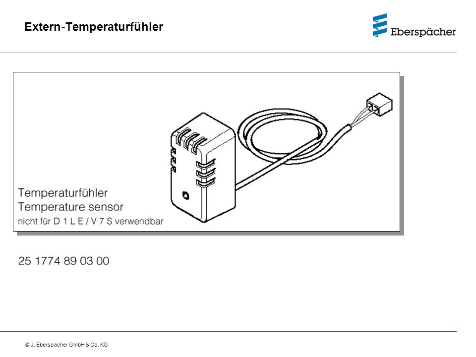 Extern-Temperaturfühler