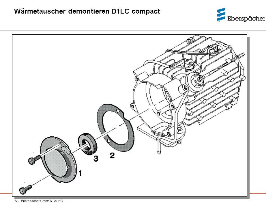 Wärmetauscher demontieren D1LC compact