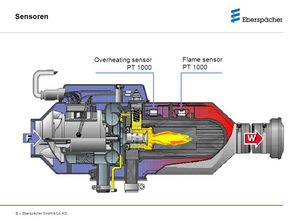 Sensoren Overheating sensor PT 1000 Flame sensor PT 1000