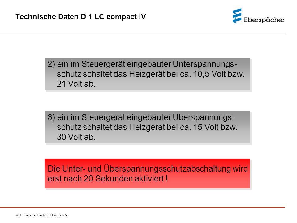 Technische Daten D 1 LC compact IV