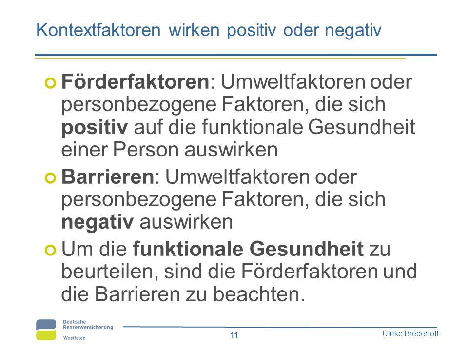 Kontextfaktoren wirken positiv oder negativ