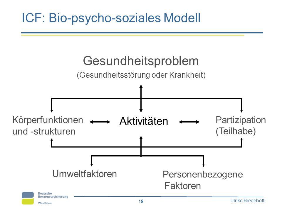 ICF: Bio-psycho-soziales Modell