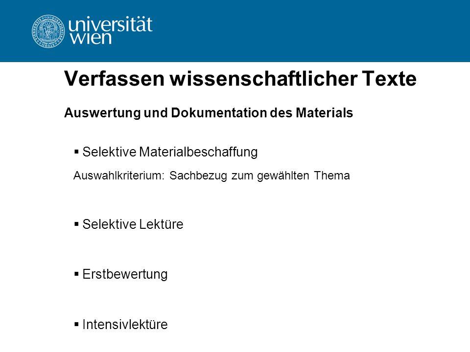 Verfassen wissenschaftlicher Texte