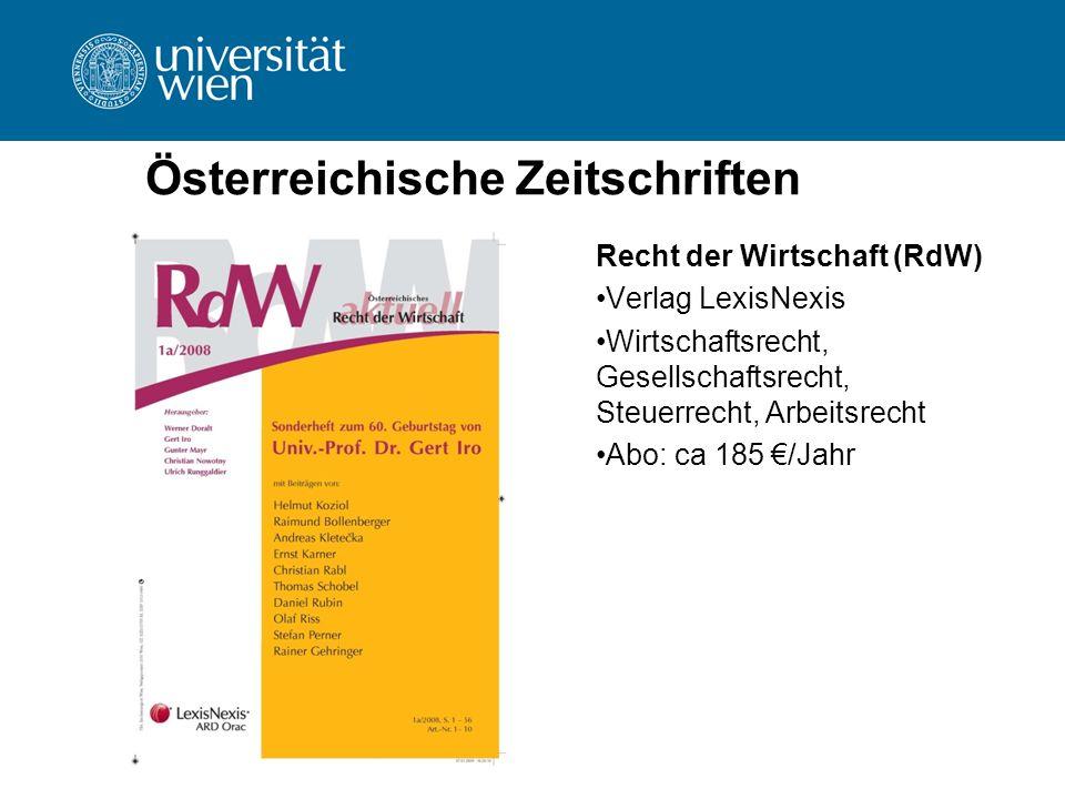 Österreichische Zeitschriften