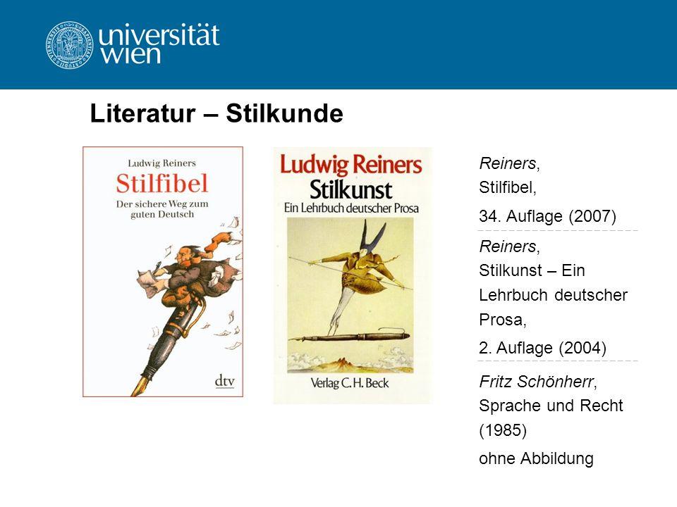 Literatur – Stilkunde Reiners, Stilfibel, 34. Auflage (2007)