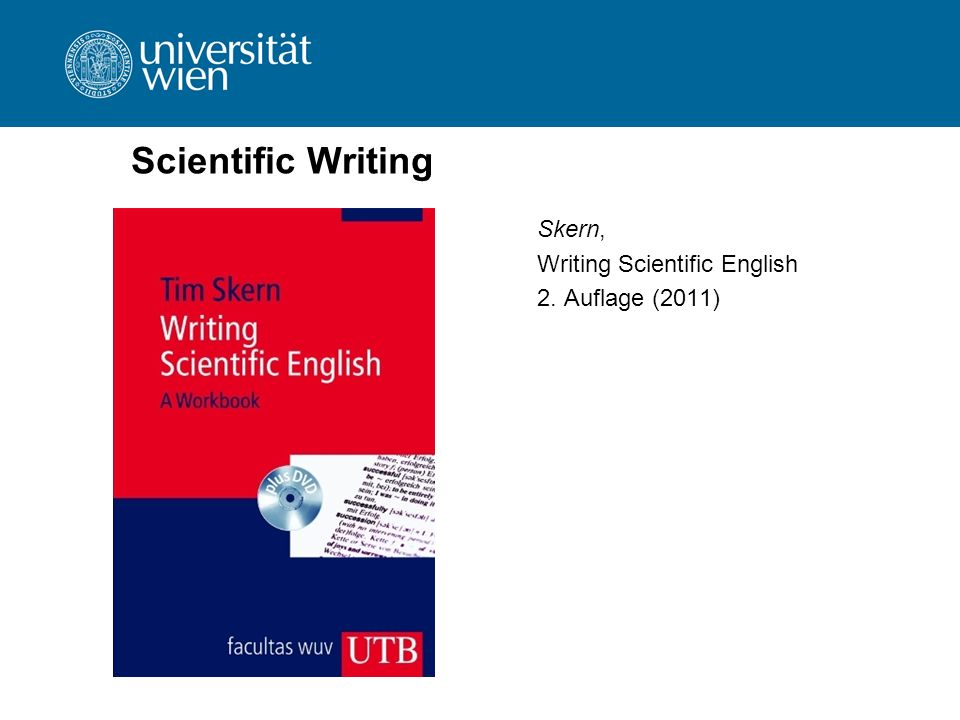 Scientific Writing Skern, Writing Scientific English 2. Auflage (2011)