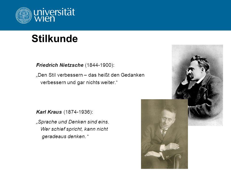 Stilkunde Friedrich Nietzsche (1844-1900):