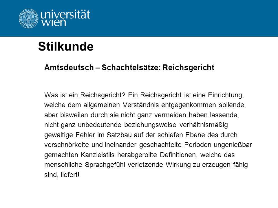 Stilkunde Amtsdeutsch – Schachtelsätze: Reichsgericht