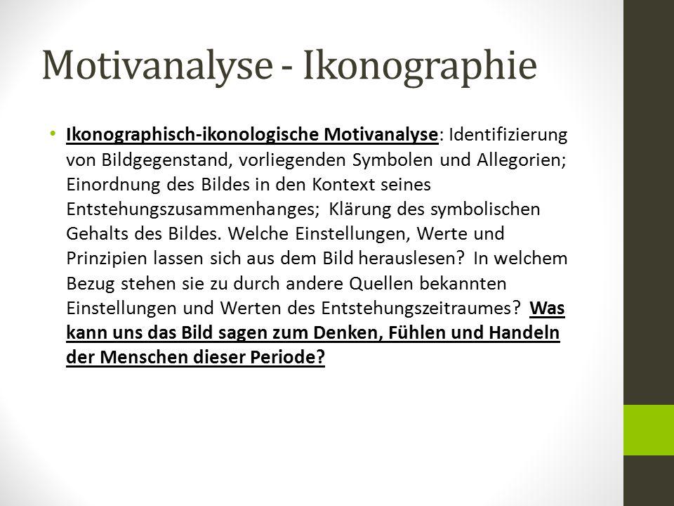 Motivanalyse - Ikonographie
