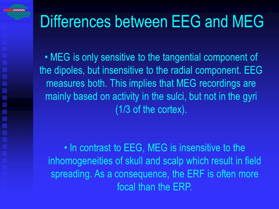 Differences between EEG and MEG