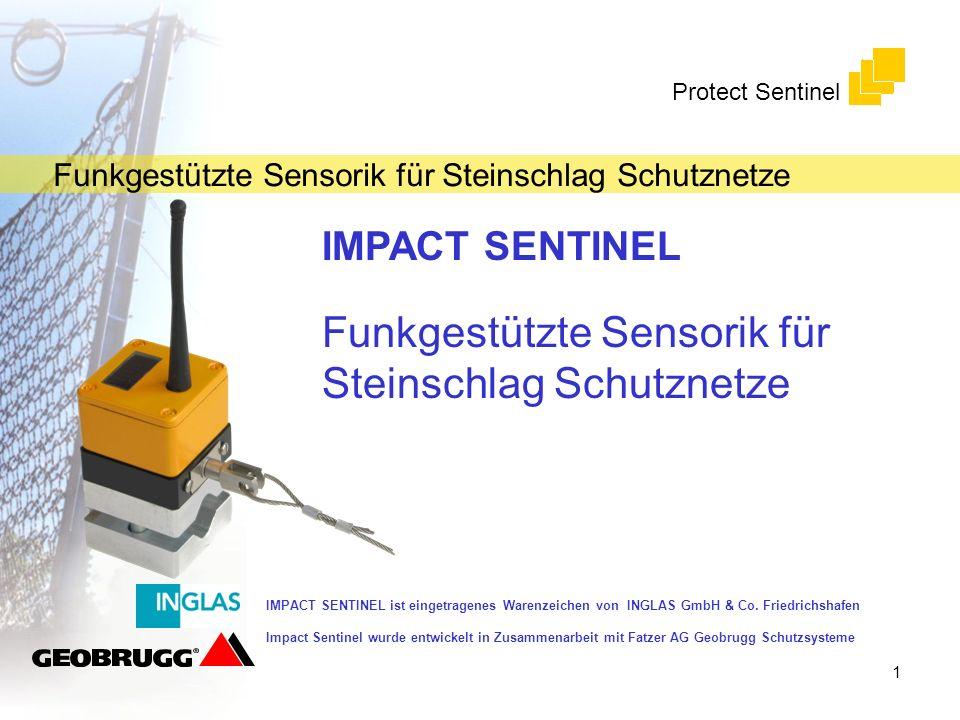 Funkgestützte Sensorik für Steinschlag Schutznetze