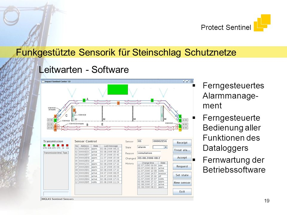 Leitwarten - Software Ferngesteuertes Alarmmanage-ment